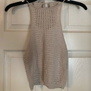 Hollister Knitted Halter Crop Top with Tie-String